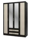 Юлианна СБ-074-01 Шкаф 4-х дверный с зеркалами 1600х590х2236