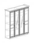 Спальня Инна Шкаф 4-дверный 624 денвер темный Размер с учетом карниза (1984х584х2280)