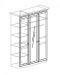 Спальня Инна Шкаф 3-дверный 625 денвер темный Размер с учетом карниза (1534х584х2280)