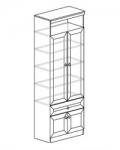 Гостиная Инна Шкаф для посуды 612 денвер светлый (800х368х2248) Полки - стекло