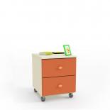Денди оранжевый СБ-1418 Передвижной комод (396х468х449)