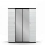 Гретта дуб феррара СБ-207 Шкаф 4-х дверный с 2-мя зеркалами (1800х2241х580)