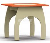 Денди оранжевый СБ-1425 Стол (580х510х580)