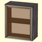 ЛД229.040 Шкаф 600 со стеклом 600x704x320. Размер