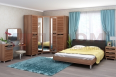 Спальня Мелисса 4 (Слива Валлис-Комбинированный)
