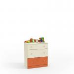 Денди оранжевый СБ-1413 Комод (786х1036х451)