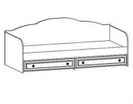 Детская Парус Капитан Кровать ящиками 520 с декоративным элементом 2036х945х790. Спальное место 900х2000