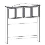 Детская Парус Капитан Надставка кровати 522 с декоративным элементом 2070х342х2200
