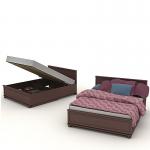 Кровать с ПМ Верди СБ-1463 (1662х850х2151) спальное место 1600х2000