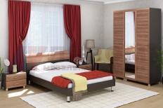 Спальня Мелисса 7 (Дуб Венге/Слива Валлис)