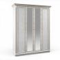 Версаль белый ясень СБ-2051 Шкаф 4дв с зеркалами(1752х2183х627)
