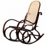 Кресло-качалка RC-8001 (ОРЕХ, тростниковое сидение и спинка)