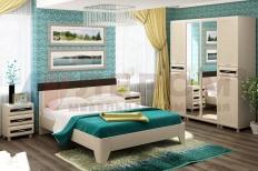 Спальня Мелисса 8 (Дуб Беленый-Комбинированный)