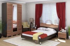 Спальня Мелисса 9 (Дуб Венге/Слива Валлис)