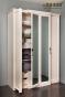 Монтпельер Шкаф для одежды и белья 1 (дуб млечный) (1696(1618)х2237(2197)х640(601))