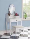 Туалетный столик с пуфом NY-V3024 (белый)