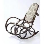 Кресло-качалка RC-8001 (Ткань ГОБЕЛЕН (бежевый с цветочным рисунком))