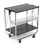 Сервировочный столик SC-5119 (складной) (черный)