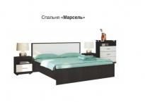 Модульная спальня Марсель (ночь марино/белый)