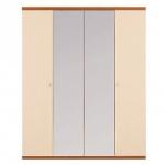 Гретта вишня барселона СБ-207 Шкаф 4-х дверный с 2-мя зеркалами (1800х2241х580)