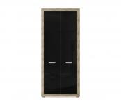 Марсель ночь марино  (черный) СБ-1067 Шкаф для одежды (900х2080х575)