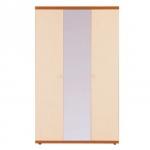 Гретта вишня барселона СБ-208 Шкаф 3-х дверный с зеркалом (1350х2241х580)