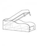 Модуль 10 Кровать-машина 1920х836х644 с подъемным механизмом и ортопедическим основанием спальное место 1800х800