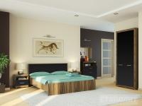 Модульная спальня Марсель (ночь марино/черный)