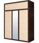 КАПРИ Шкаф 3D с надставкой венге магия 1665х614х1970